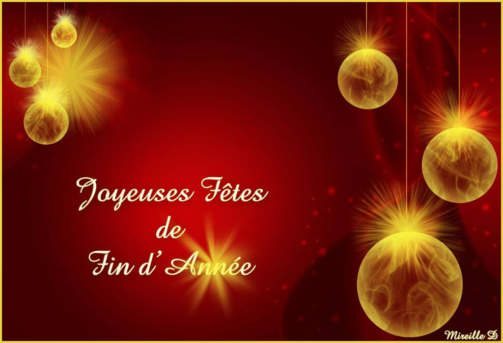 Joyeuses fêtes de fin d'année & vœux de la Municipalité