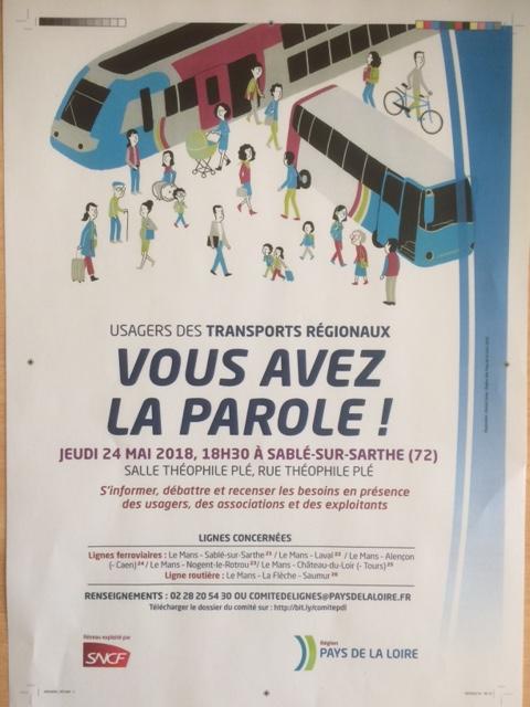 Ligne Sncf Caen Tours, tronçon Alençon Le Mans : arrêts dans les gares