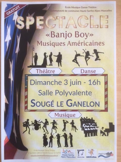 Concert de l'école de musique danse théâtre Haute Sarthe Alpes Mancelles le 3.06.2018