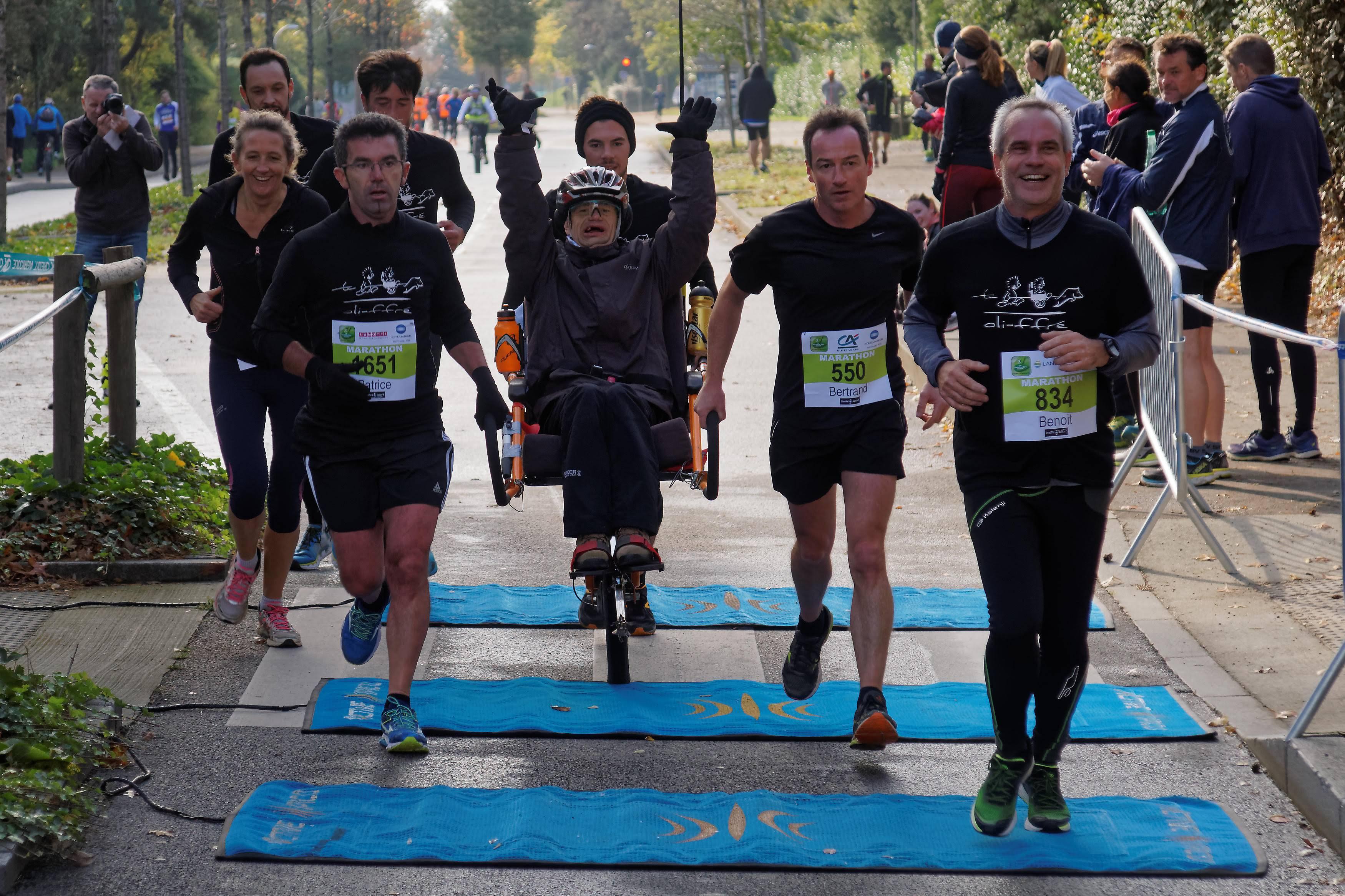Anaïs : participation d'un résident au «Marathon Vert» de Rennes