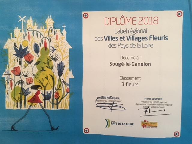 Concours des villes & villages fleuris : Sougé le Ganelon confirmé 3 fleurs ***