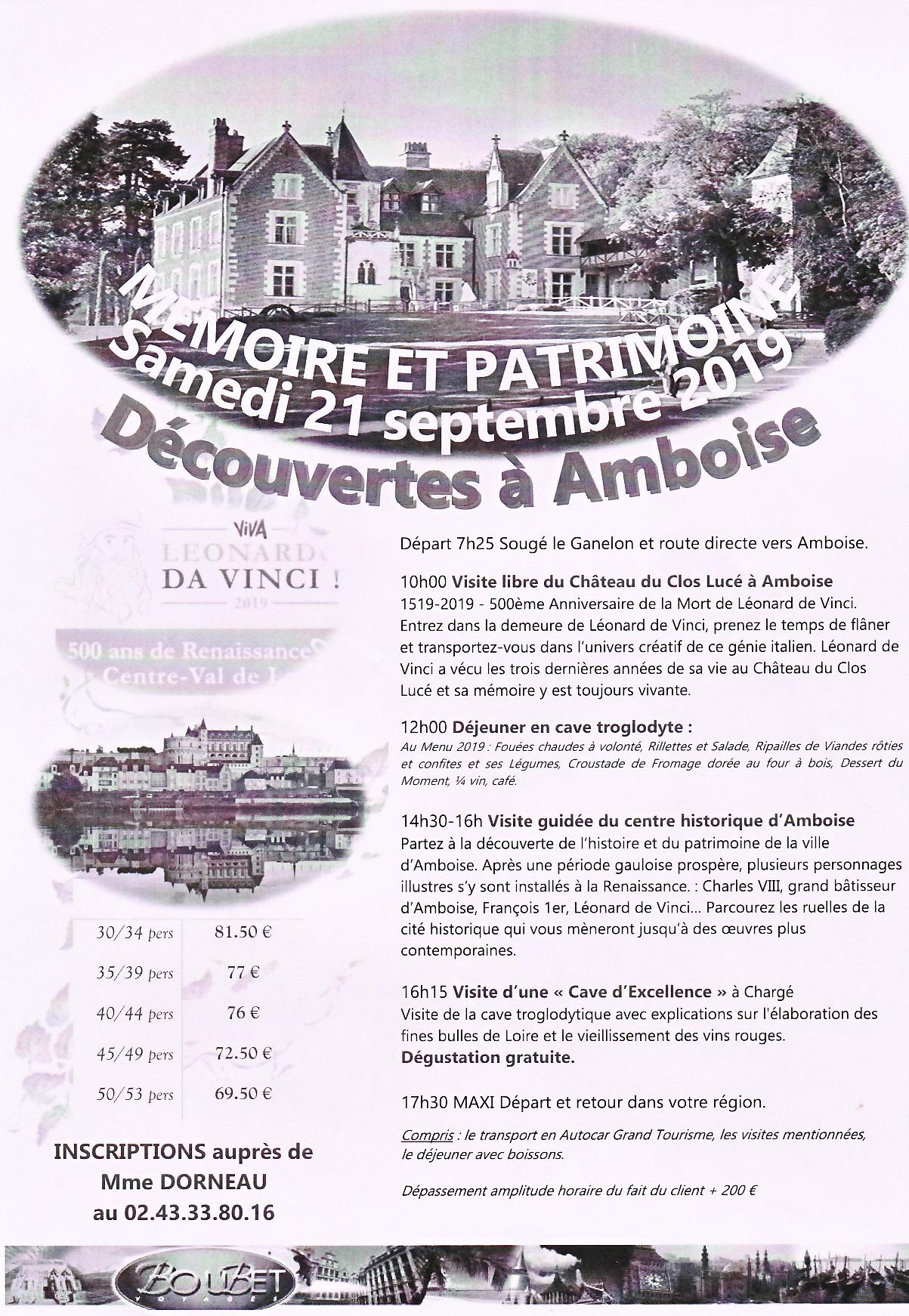 Découvertes à Amboise