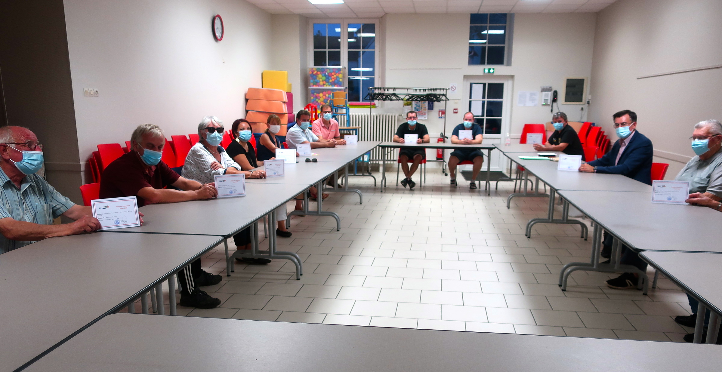Réunion avec les associations communales et remise des subventions 2020