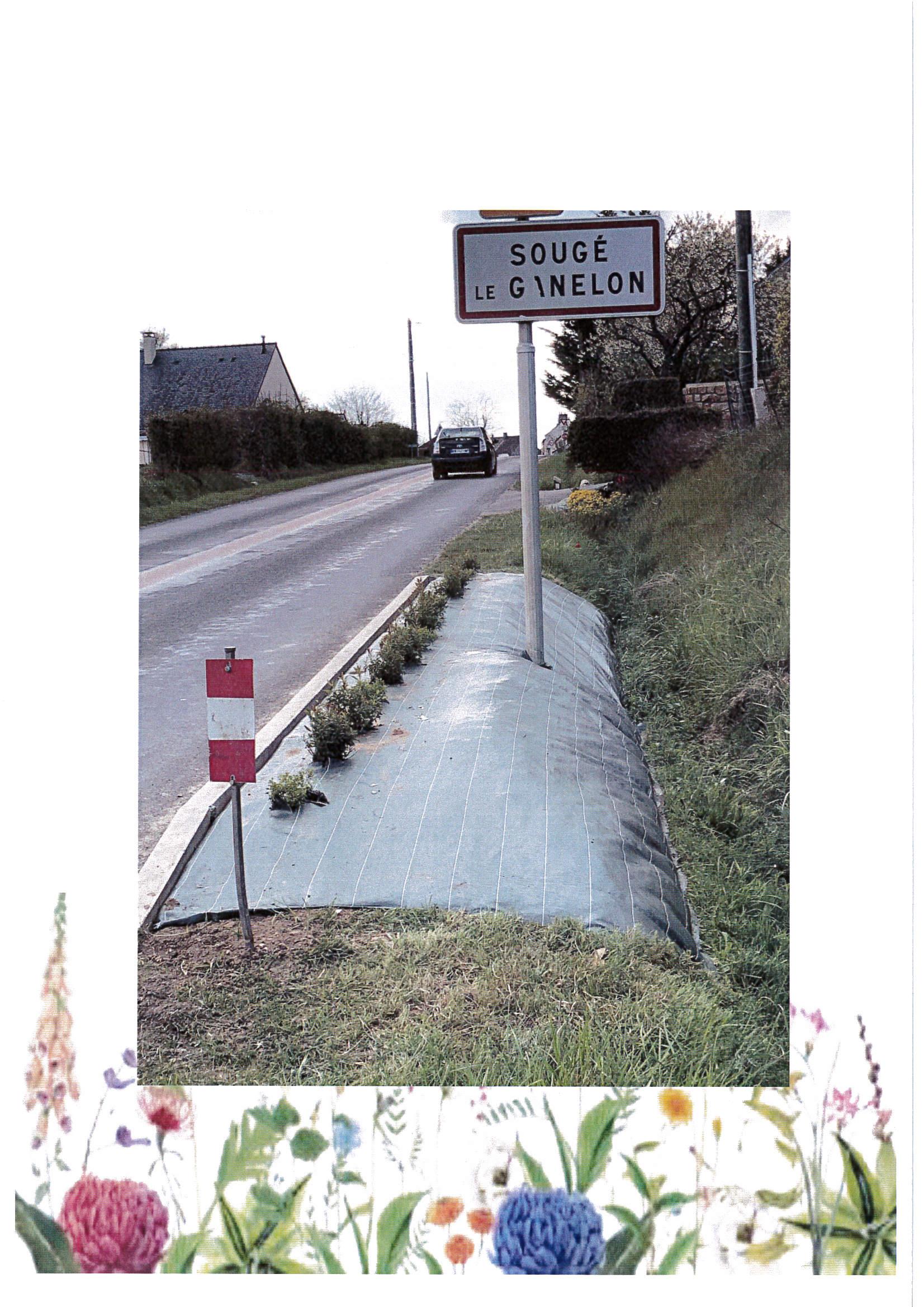 Aménagement paysager des entrées de bourg sur route départementale